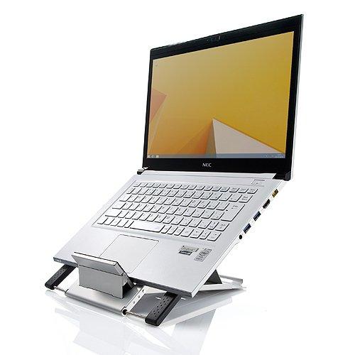 サンワダイレクト ノートパソコンスタンド iPadスタンド エルゴノミクス ドイツのiFデザイン賞受賞 Amazon店人気商品 100-CR004