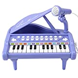 Amy&Benton Baby Piano Toy Toddler Piano Keyboard Toy for Girls Birthday Gift Toys- Musical Instruments for Kids Portable Electronic Keyboard Piano Toy 24 Keys Purple