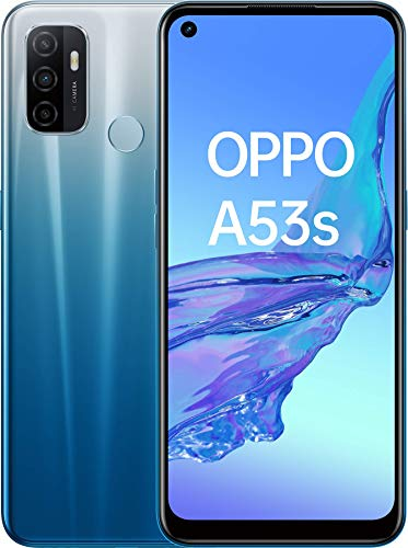 "OPPO A53s 16.5 cm (6.5"") 4 GB 128 GB Dual SIM 4G USB Type-C Blue Android 10.0 500 mAh A53s, 16.5 cm (6.5""), 4 GB, 128 GB, 13 MP, Android 10.0, Blue"
