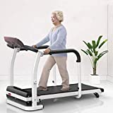 Folding Walking Machine for Elderly Home Adjustable Electric Incline Treadmill Home Gym Aerobic Exercise Fitness Equipment with Safety Handrails and LED Display Max Load 530lbs