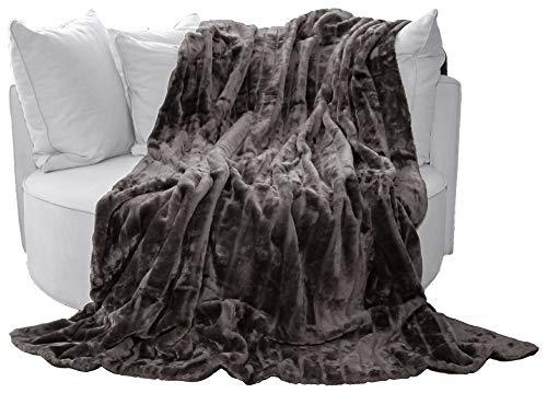 Manta Manta (alta calidad, de Brand sseller, poliéster, gris, 150 x 200 cm