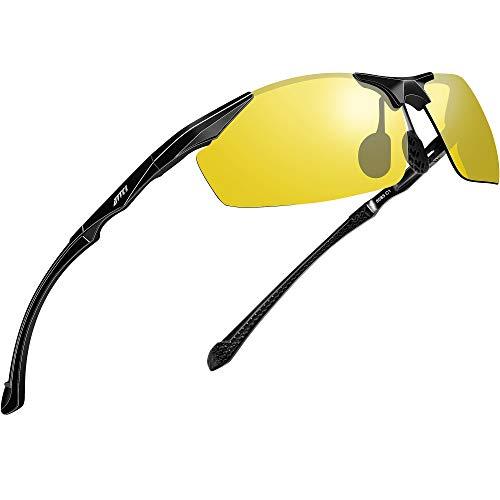 ATTCL HD Night Time Driving Glasses Sunglasses for Men Al-Mg Metal Frame Ultra Light 8585 Yeshi