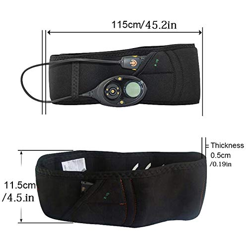 Abdominal Belt Electrical Stimulation EMS Muscle Fitness Equipment Vibration Slimming Massager Lose Weight Band Cutting Fat 3