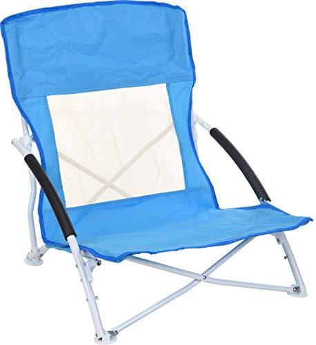 Strandstuhl zum zusammenklappen, Klappstuhl für den Strand oder Baggersee, Farbe: Blau