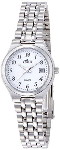 Lotus Damen Analog Quarz Uhr mit Edelstahl Armband 15032/1
