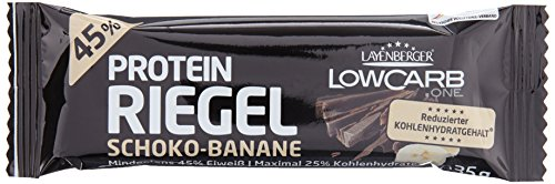 Layenberger LowCarb.one Protein-Riegel Schoko-Banane, 1er Pack (18 x 35 g)