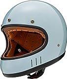 マルシン(MARUSHIN) バイクヘルメット ネオレトロ フルフェイス DRILL (ドリル) クラシックブルー Mサイズ (57-58cm) MNF2 2002514