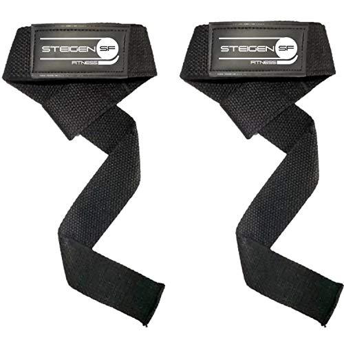 STEIGEN FITNESS Heavy Weight Lifting Deadlift Wrist Straps Support for Gym Workout