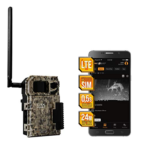 Spypoint LINK-Micro LTE - Telecamera per animali selvatici, con scheda SIM per la trasmissione di smartphone, con infrarossi, 4 LED, 10 megapixel