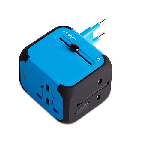 Adaptador Enchufe de Viaje Universal Dos Puertos USB para US EU AU de...
