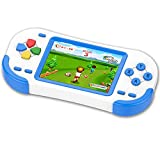 TEBIYOU Handheld Game Console for Adults Kids Seniors with Built in 16 Bit 220 HD Classic Games 3.0'' Large Screen Portable Retro Game Player Children Electronic Handheld Games (Blue)