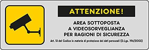 ADHESIVO 15X5 CM AREA DE ATENCION SUJETO A VIDEO VIGILANCIA POR MOTIVOS DE SEGURIDAD Art.13 '