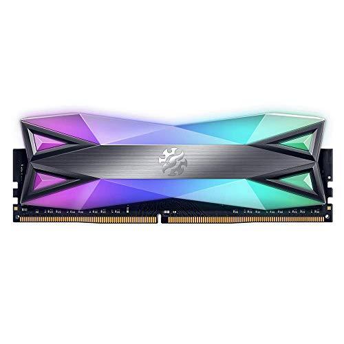 ADATA XPG SPECTRIX D60G 16GB (2x8GB) 3200MHz CL-16-18-18 DDR4 Gaming-DRAM Arbeitsspeicher, Titanium Grau