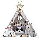 Izabell Tente de jeu pour enfants Teepee Tipi Set pour enfants intérieur...