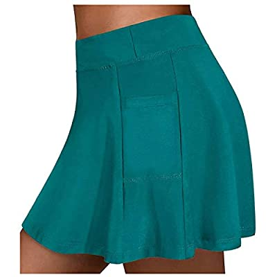 Blend Material: Athletic tennis skirts comfortable flat seams keep you comfy all day long. Moisture wicking polyester and spandex material ensures you stay dry and comfortable during high impact activities. Secure Fit: Our athletic tennis skirts comb...