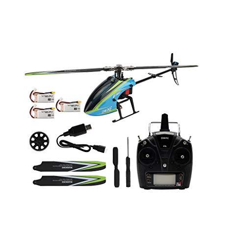 EACHINE E160 RC Elicottero Senza Spazzole Sistema Flybarless RTF 6Ch 3D6G Compatibile con Futaba S-FHSS (3 Batterie)