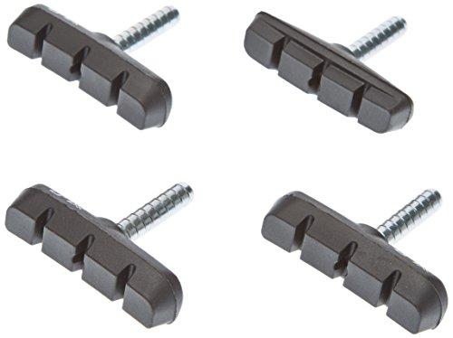 XLC Unisex– Erwachsene Bremsschuhe Cantilever BS-C02 4er Set 55 mm, Schwarz, One Size