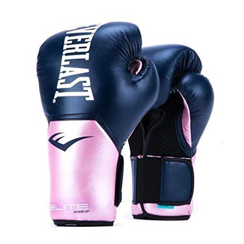 Everlast Elite Pro Style Training Gloves, Pink/Blue, 12 oz