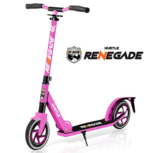 Scooter  Scooter for Teenager  Kick Scooter  2 Wheel Scooter with Adjustable T-Bar Handlebar  Folding Adult Kick Scooter with Alloy Anti-Slip Deck  Scooter with 8 Smooth Gliding Wheels by Hurtle