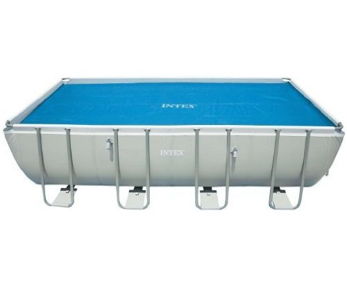 Intex Solar Cover for 18ft X 9ft Rectangular Frame Pools, Measures 17' 8' X 8' 4'