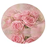 Xuanlin Manta para el hogar Manta Comfort Warmthlamb, Manta Envolvente Redonda, Manta Redonda, Manta Redonda para Aire Acondicionado, Manta Redonda, Manta de Flores Rosas (47'X47 60'X 60')