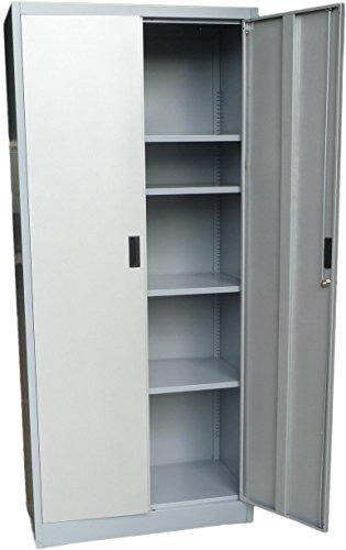 Fedmax Metal Storage Cabinet 71' Tall, Lockable Doors and Adjustable Shelves, 70.86' Tall x 31.5' W...