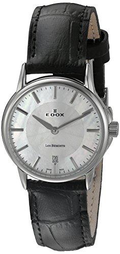 Edox Damen-Armbanduhr 57001 3 NAIN Les Bemonts Analog Display Schweizer Quarz Schwarz