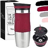 Milu Mug Isotherme Etanche 370ml, 450ml I Thermos Café-Thé I Tasse isolée pour café et thé à...