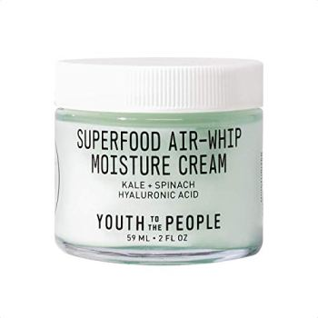 Youth To The People Superfood Hyaluronic Acid Air-Whip Moisture Cream - Face Moisturizer with Kale and Green Tea, Clean Skincare + Vegan Beauty (2oz)