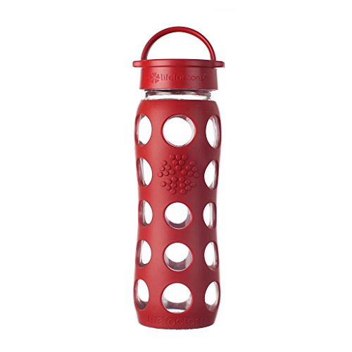 Lifefactory 22-Ounce BPA-Free Glass Water Bottle with...