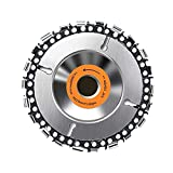 Wood Carving Disc Grinding Wheel, Angle Grinder Chain Saw Blade, Multi-Function Saw Disc Woodworking Cutting Blade, Power Tool Accessories 100 Mm 4 Inch 22 Tooth Wood Turbine Carving Disc