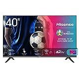 Hisense 40AE5500F Smart TV LED FULL HD 1080p 40', Bezelless, USB Media Player, Tuner DVB-T2/S2 HEVC Main10 [Esclusiva Amazon - 2020]