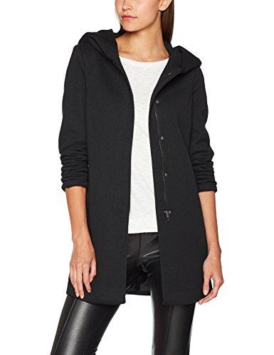 ONLY Damen onlSEDONA Light Coat OTW NOOS Mantel, Schwarz (Black Black), 42 (Herstellergröße: XL)