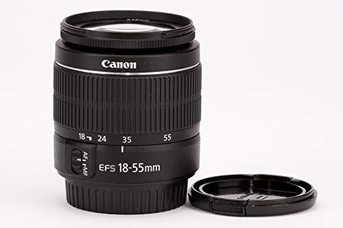 Canon - Obiettivo EF-S, 18 - 55 mm, 1:3,5 - 5,6 III, zoom standard sviluppato specificatamente per fotocamere EOS con baionetta EF-S, compatto e leggero, immagini di alta qualit con tutte le aperture focali, riflessi minimizzati, alta velocit AF, riprese estremamente ravvicinate, ottica senza piombo