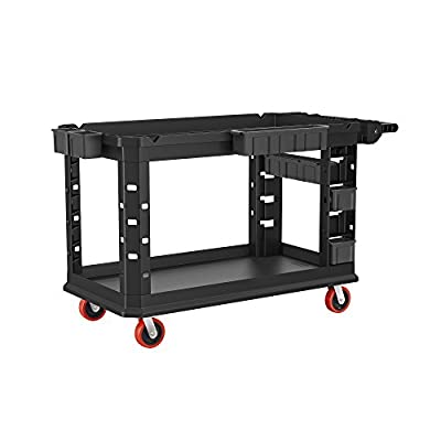 VERSATILE UTILITY CART: Adds a functional storage solution to your facility and engineered with improved impact-absorbing caster mounts for a smoother and quieter ride than most traditional carts NON-MARKING WHEELS: Wheels are non-marring and non-mar...