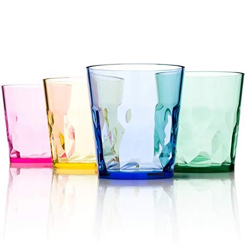 【日本製】250ml プレミアム グラス - 4個セット - 割れない コップ - トライタン BPA フリー