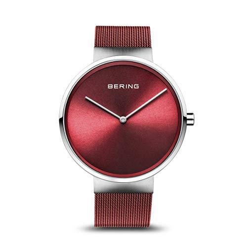 BERING Unisex-Armbanduhr Analog Quarz Uhr mit Edelstahl Armband 14531-303