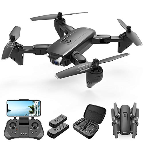 4DRC Drone with 1080P Camera, 2 Batteriesand Carrying Case,HD FPV Live Video Camera,RC Quadcopter for Adults kids,with Auto Hover,3D Flip,Headless Mode,One Key Start,Waypoints Functions