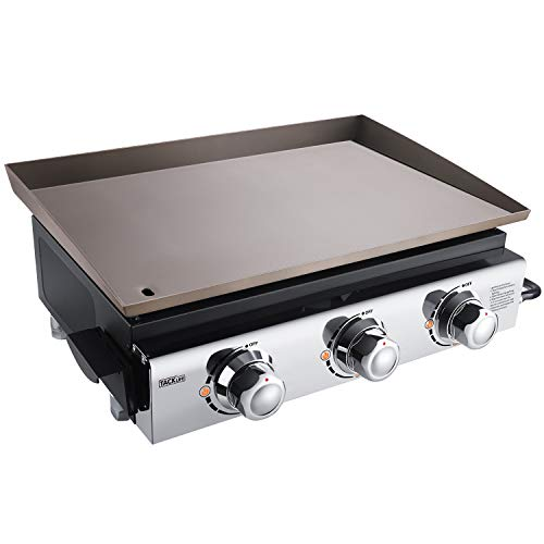 Product Image 1: TACKLIFE Portable Propane Gas Grill, 23 in Tabletop Griddle with 3 Burners, Stainless Steel Ideal for Outdoor Cooking, Camping, Tailgating or Picnicking
