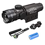 Feyachi Tactical Green Laser Sight with Picatinny Rail Mount - Include Barrel Mount Cable Switch