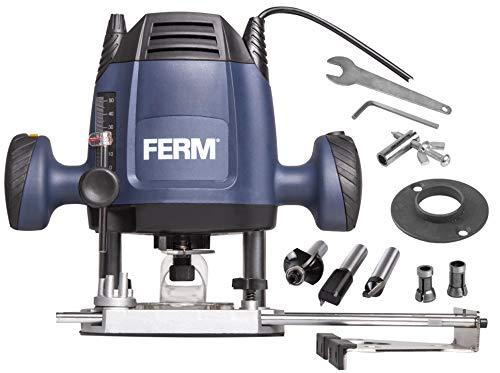 FERM Fresatrice verticale 6,8 mm - 1200W. Velocit variabile - Cavo di alimentazione da 3 metri....