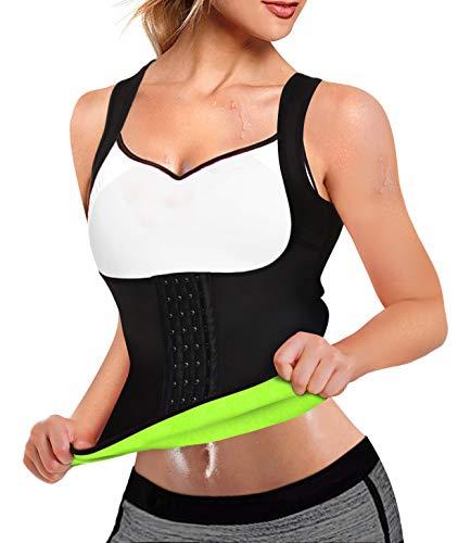 Rolewpy Women Neoprene Waist Trainer Corset Sweat Vest Sauna Body Shaper Cincher Workout Tank Top (Black Sauna Vest, Small (US 4-8)) 5
