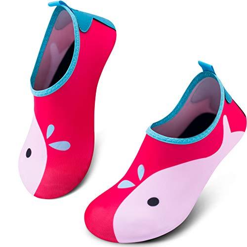 SIMARI Kids Water Shoes Girls Boys Toddler Quick Dry Anti Slip Aqua Socks for Beach Outdoor Sports 397 Pink 11-12