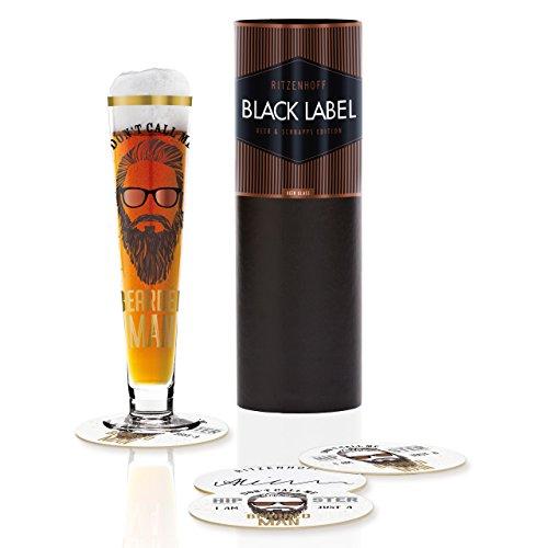 RITZENHOFF 1010235Black Label Bicchiere da Birra, Vetro, Multicolore, 6.5x 6.5x 25cm
