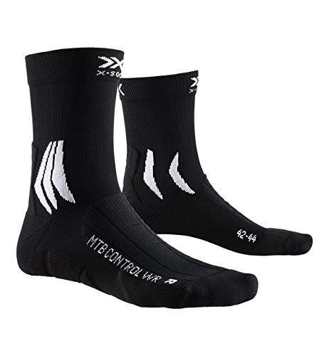 X-Socks MTB Control WR, Calzini da Ciclismo Unisex-Adulto, Opal Black/Artic White, 42-44