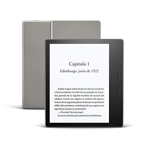Kindle Oasis, ahora con luz cálida ajustable, resistente al agua, 8 GB, wifi, grafito