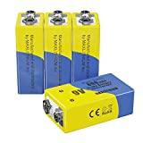 9v Batteries Rechargeable Lithium-ion Capacity 800mAh, Maxlithium