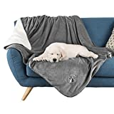 Waterproof Pet Blanket Collection– Reversible Throw Protects Couch, Car, Bed from Spills, Stains, or Fur – Dog and Cat Blankets by PETMAKER Large