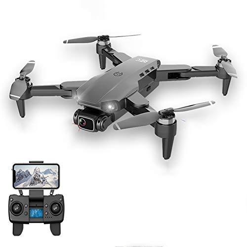 QqHAO GPS Drone, 4K Dual HD Camera HD Professionale Aerial Fotografia Brushless Motor Pieghevole RC Quad Quadrato,Nero