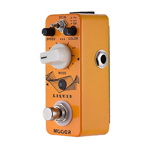 Liquid Mini Digital Phaser Guitar Effect Pedal True Bypass Full Metal Shell Compatible with MOOER